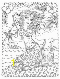 Coloring Book OH LA LA y PinUp Tattooed Mermaids to Color Fun and cute Adult Art to Color