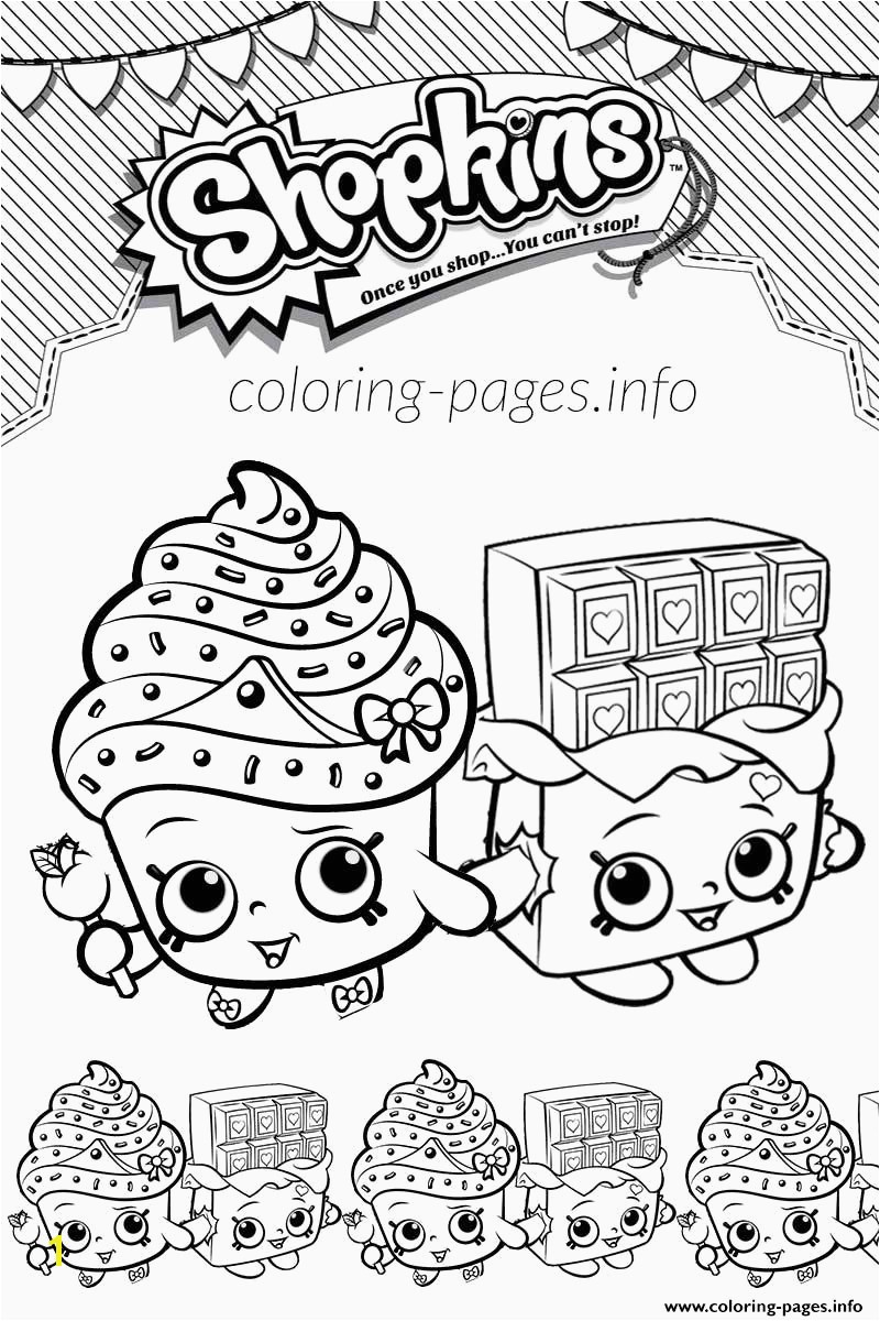 Free Coloring Games Beautiful Print Shopkins Cupcake Queen Cheeky Chocolate Love Coloring Pages