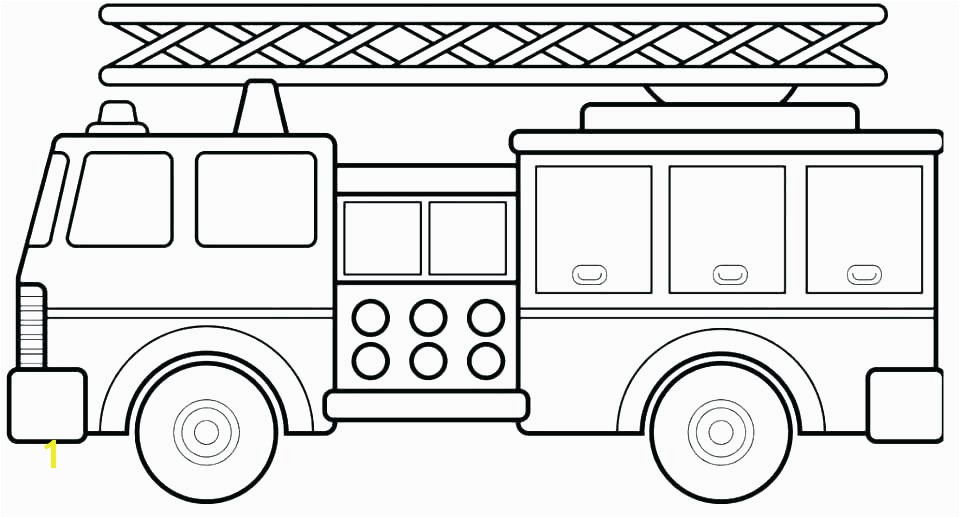 Simple Fire Truck Coloring Page Firetruck Coloring Page Fire Truck Coloring Pages to Print Free Fire