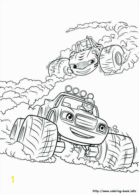 Simple Machines Coloring Pages Blaze Monster Truck Coloring Pages Beautiful Blaze and the Monster