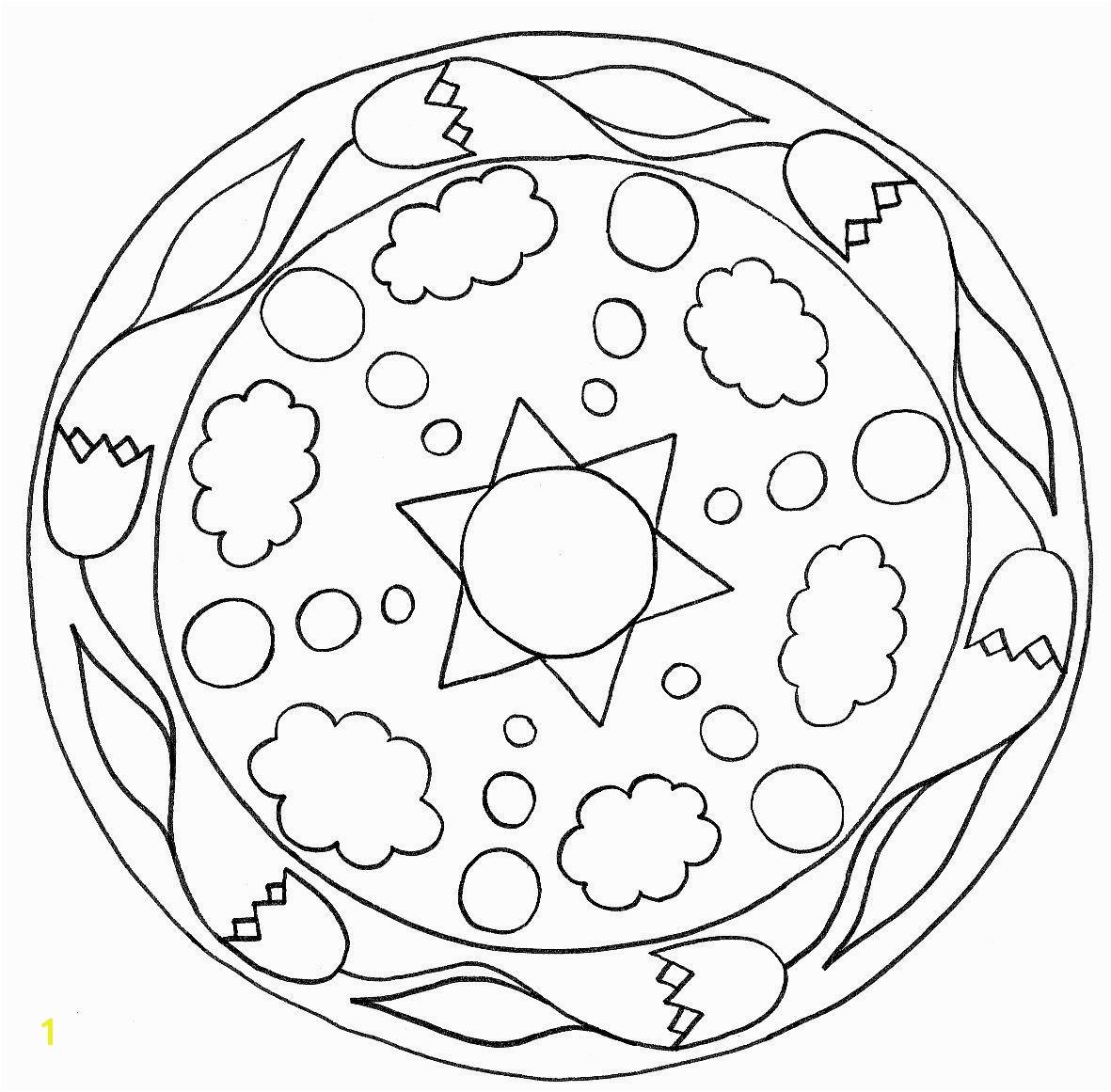 simple mandalas for kids coloring