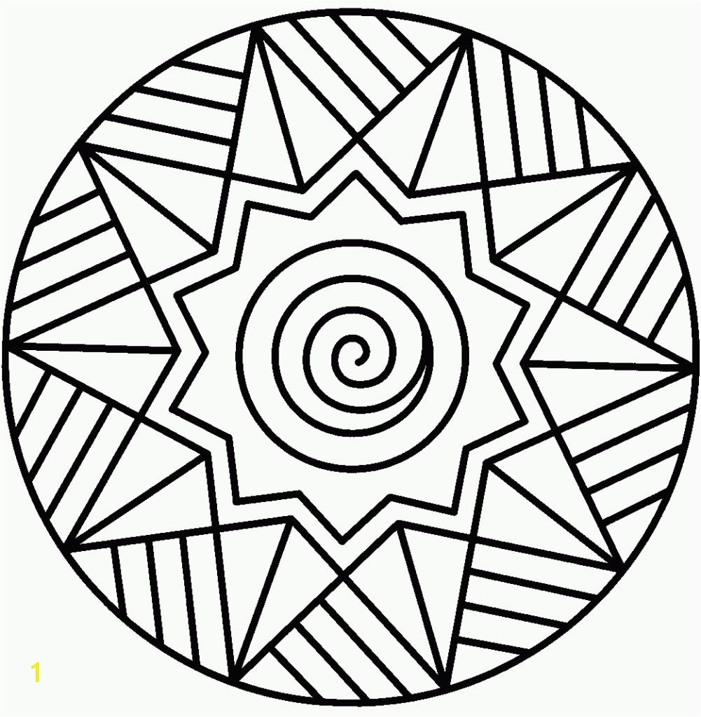 Mandala Coloring Pages Printable Simple Mandalas Pinterest Free For
