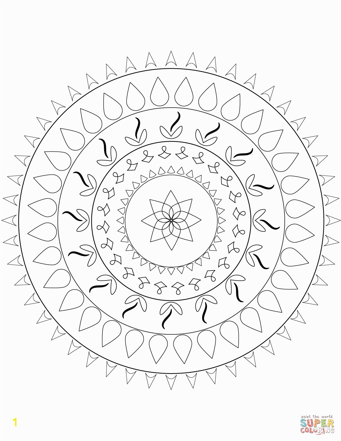 the Simple Mandala coloring pages to view printable