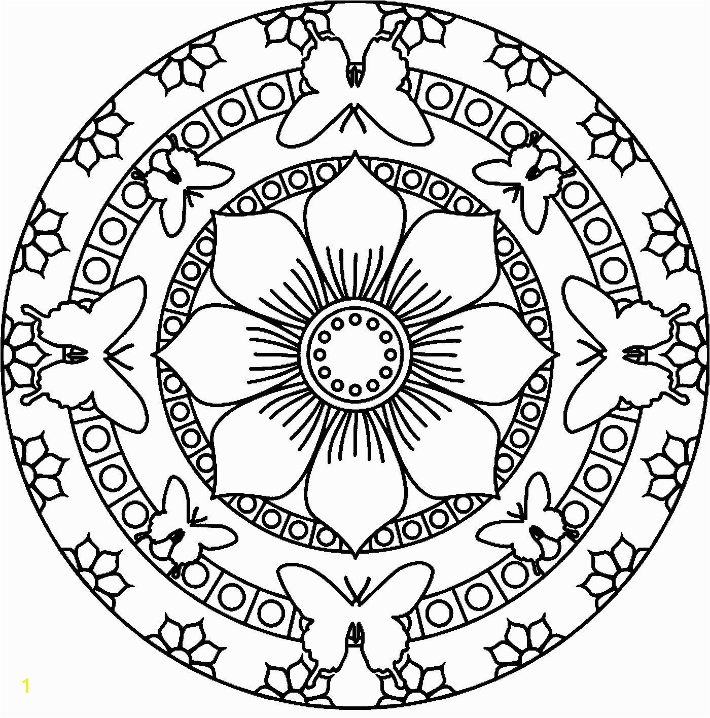 Simple Mandala Coloring Pages Printable Simple Mandala Coloring Pages Printable Download