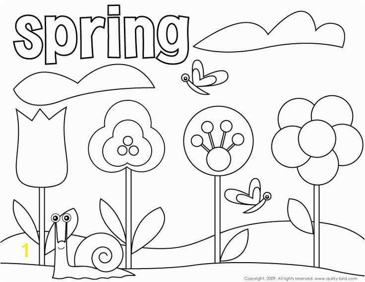 Free Spring Colouring Pages Best Springtime Coloring Pages