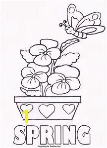 FREE Printable Coloring Page With Spring Theme FREE For Kids To Color