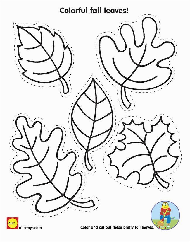 Cut and Color Fall Leaves with our Free Kids Fall Activity Printable on Alextoys