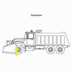 Truck Coloring Pages sn¸ Plow Truck
