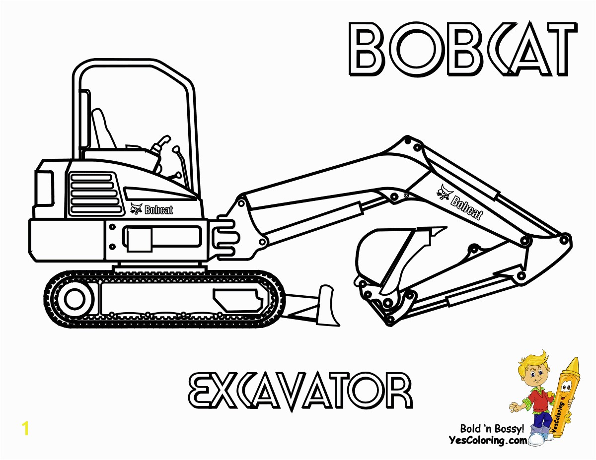 Bobcat Coloring Page Excavator at YesColoring