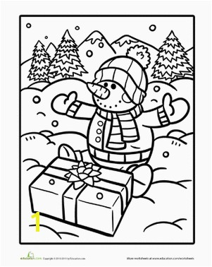 Christmas Winter Kindergarten Holiday Worksheets Snowman to Color