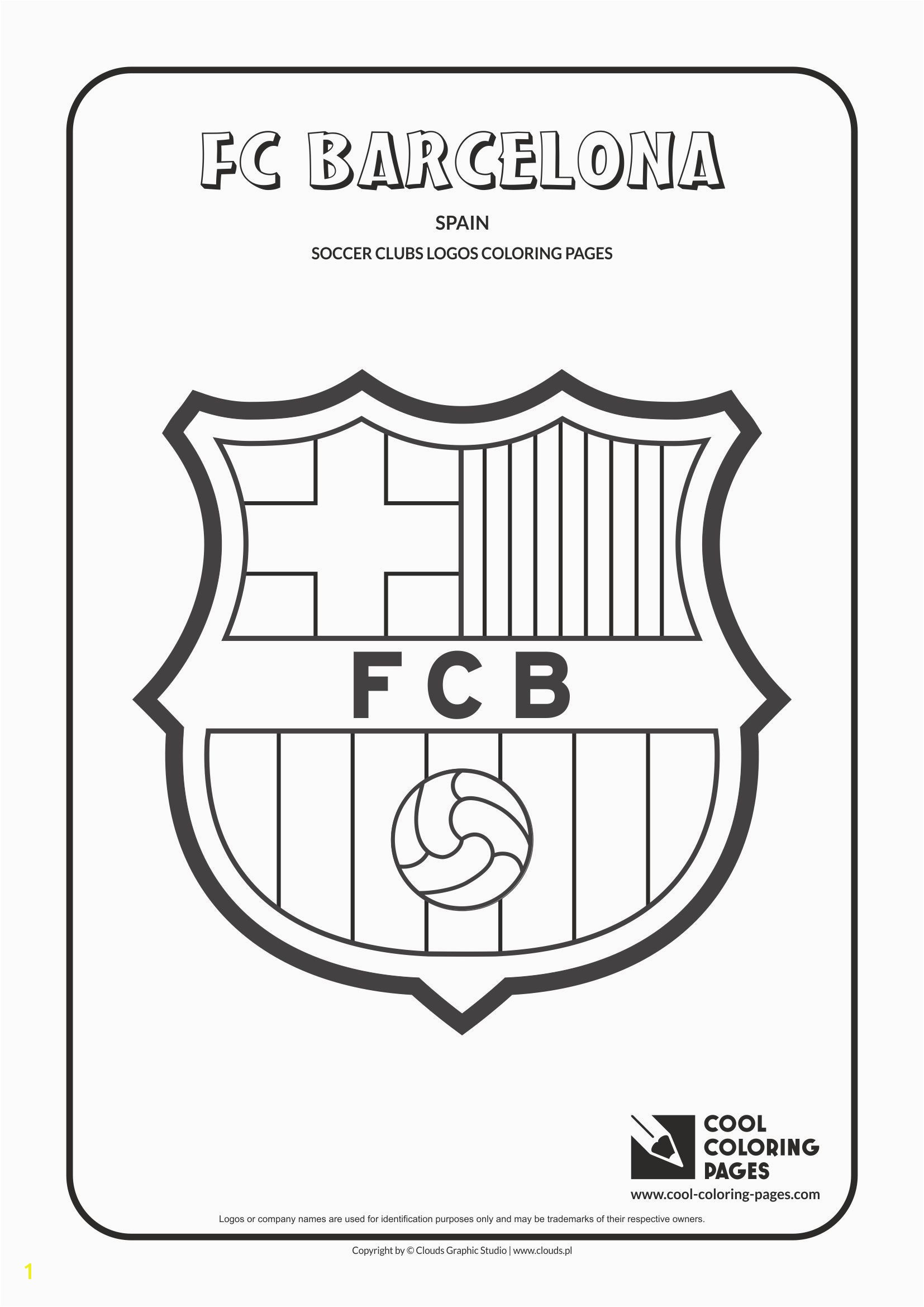 Cool Coloring Pages Others FC Barcelona logo Coloring page with FC Barcelona logo