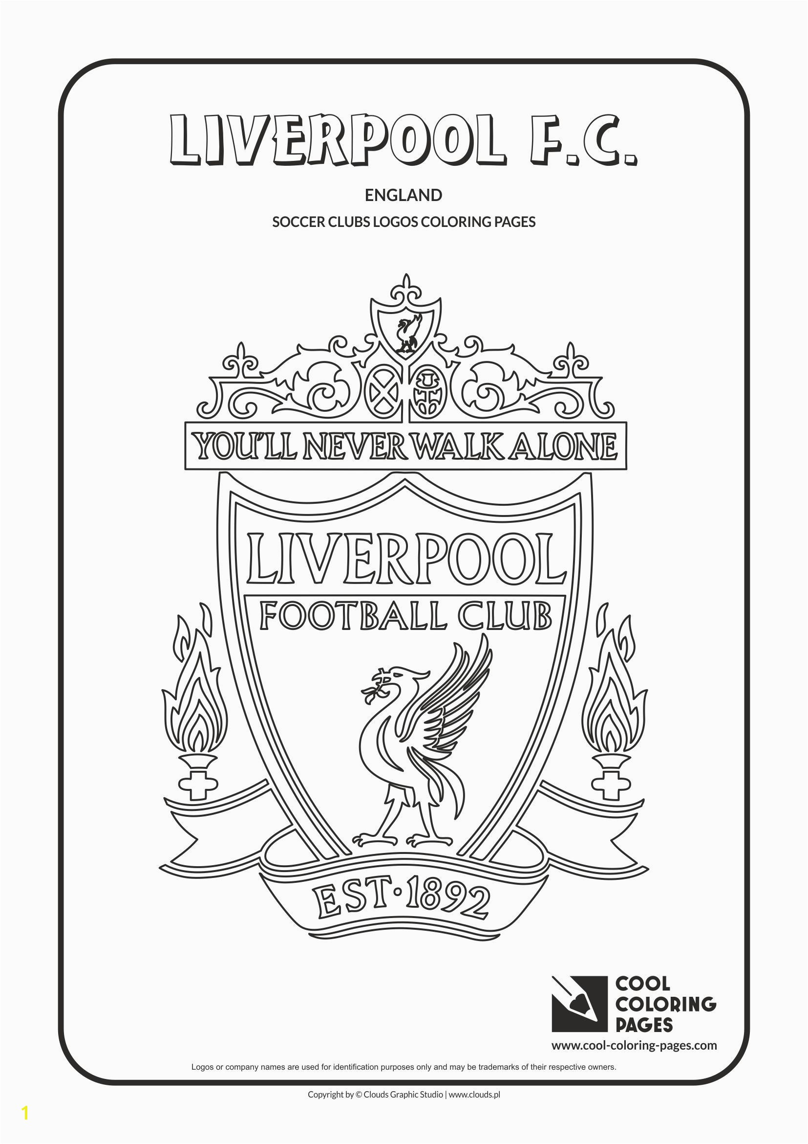 Liverpool F C logo coloring Coloring page with Liverpool F C logo…