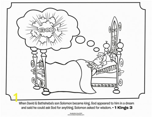 Kids coloring page from What s in the Bible featuring King Solomon from 1 Kings 3 Volume 6 A Nation Divided