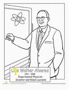 Luis Walter Alvarez Coloring Page
