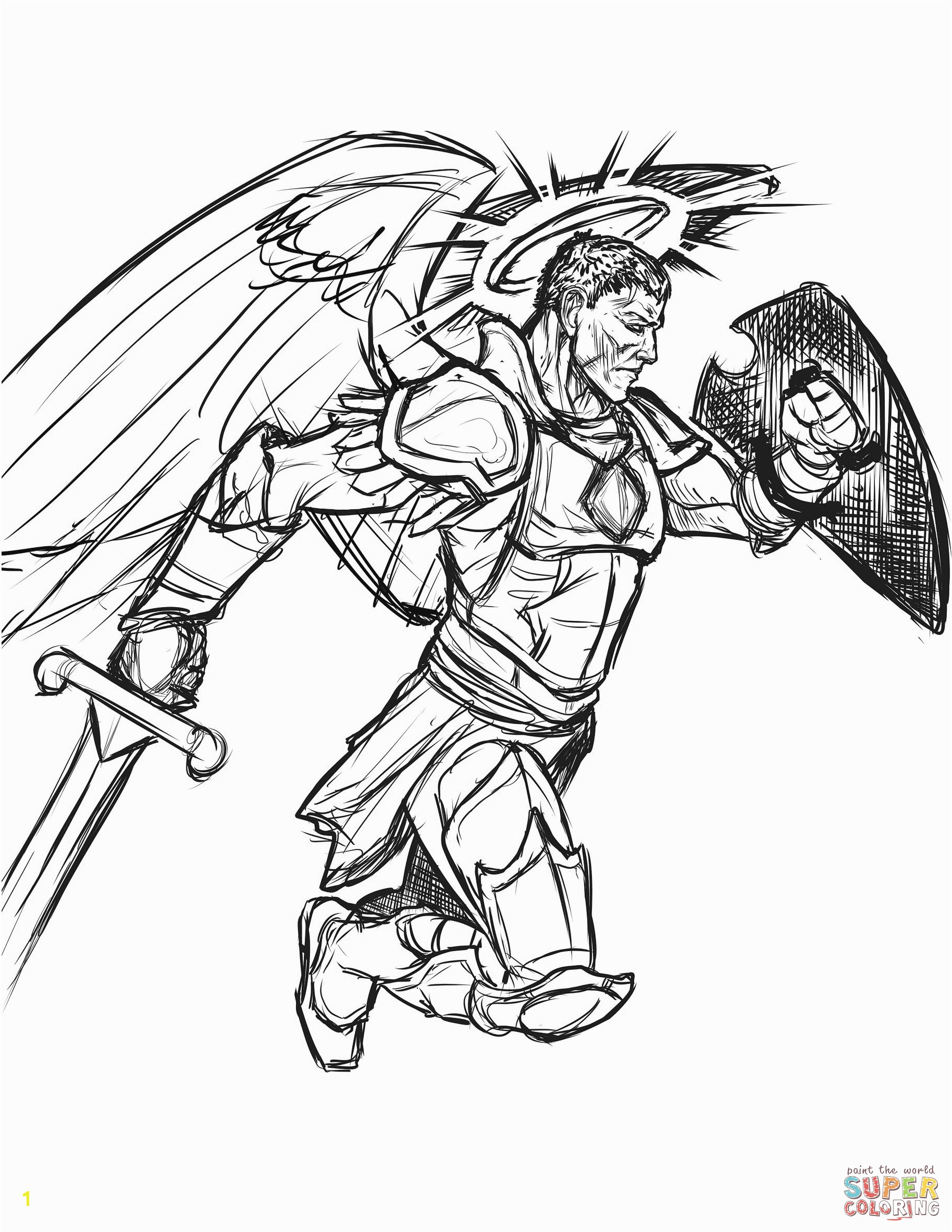 Better Warriors Coloring Pages Warrior Angel Page Free Printable