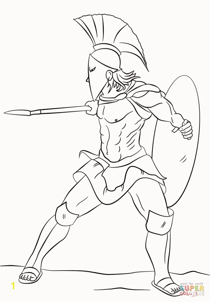Warrior Cats Coloring Pages Awesome Spartan Warrior Super Coloring Greek Pinterest