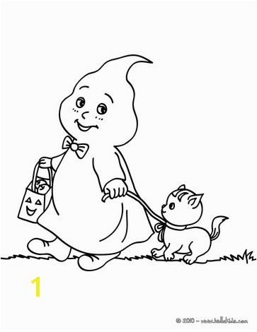 HALLOWEEN coloring pages Phantom and cat