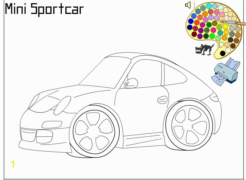 Sports Car Coloring Pages for Adults Sports Car Coloring Pages for Kids Sports Car Coloring Pages