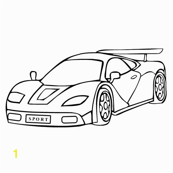 Free Sports Car Coloring Page