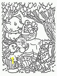 Easter in the Forest coloring page for kids coloring pages printables free Wuppsy