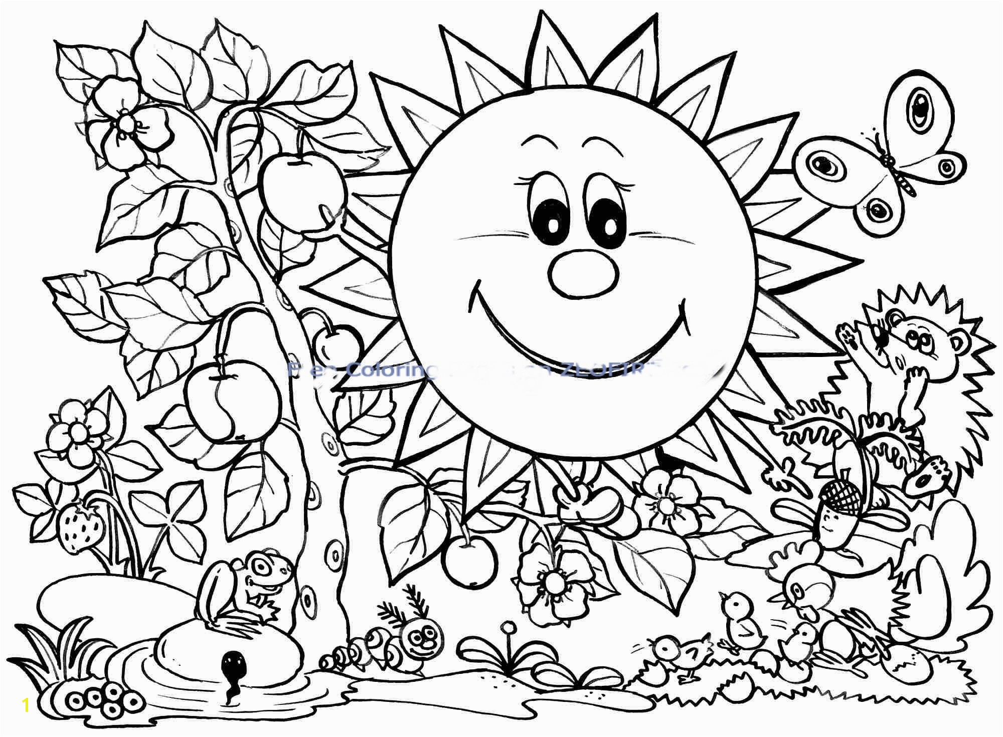 Spring Break Printable Coloring Pages Spring Color Pages Mofassel