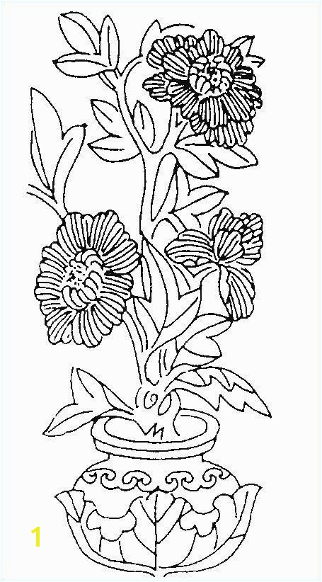 Spring Flowers coloring page printout beautiful cool vases flower vase coloring page pages flowers in a top i