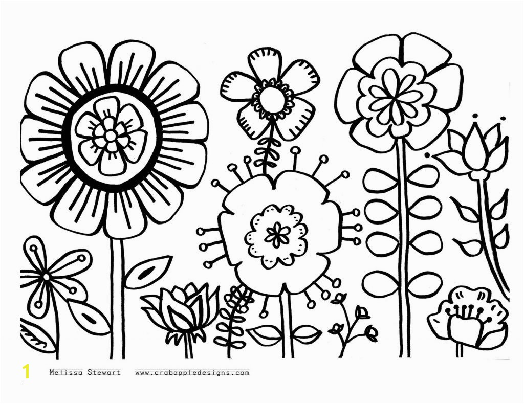 Spring Coloring Pages Free Printable Awesome Cool Kids Flower Coloring Pages Letramac