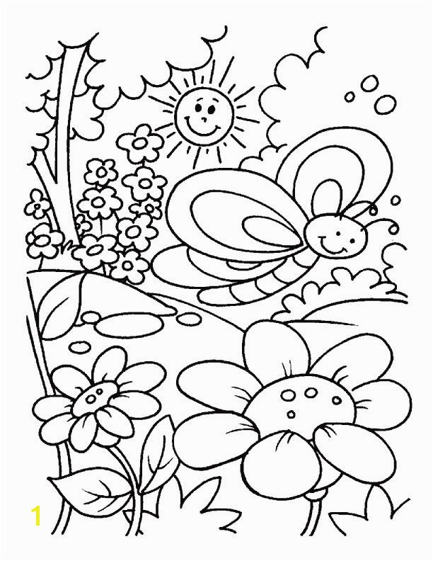 Spring time coloring pages