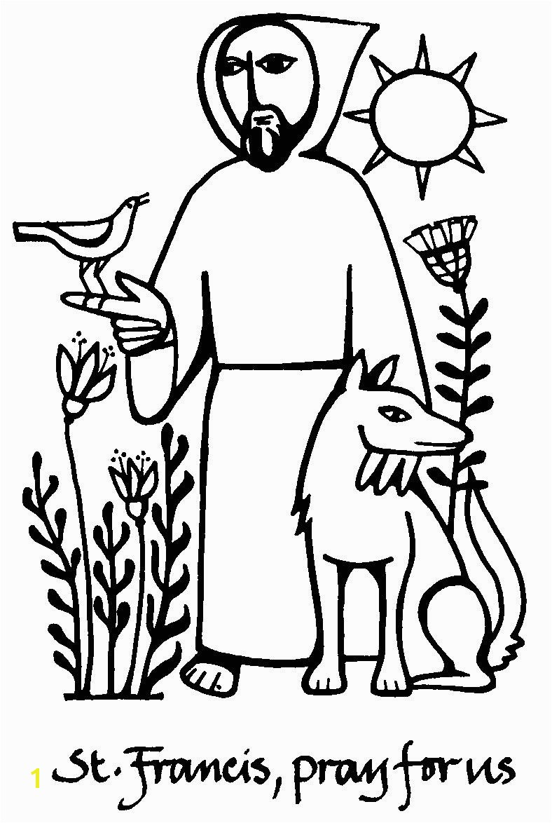 St Francis Of assisi Printable Coloring Page Do Not Click On Final Coloring Page Saint Francis Of assisi