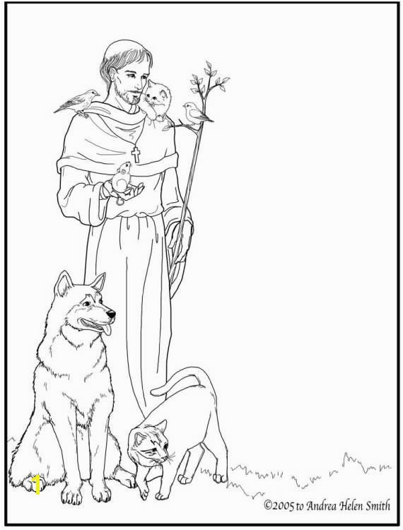 Celebrate October 4 the feast day of Saint Francis of Assisi with St Francis of Assisi Coloring pages for Catholic Kids and learn about St Francis of