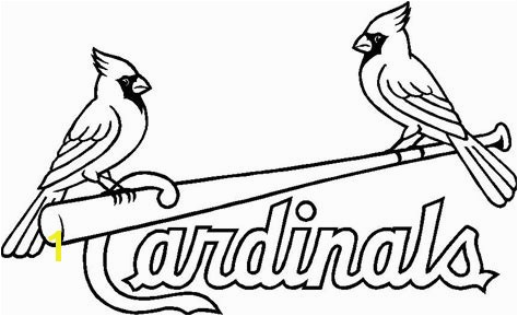 St Louis Cardinals Coloring Pages Coloring Page For Kids