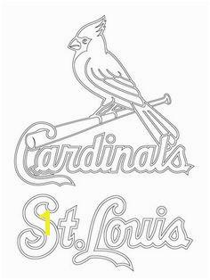 St Louis Cardinals Logo Coloring page