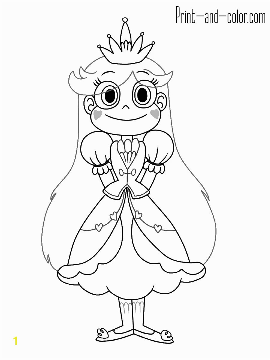 Full Star Vs The Forces Evil Coloring Pages 9