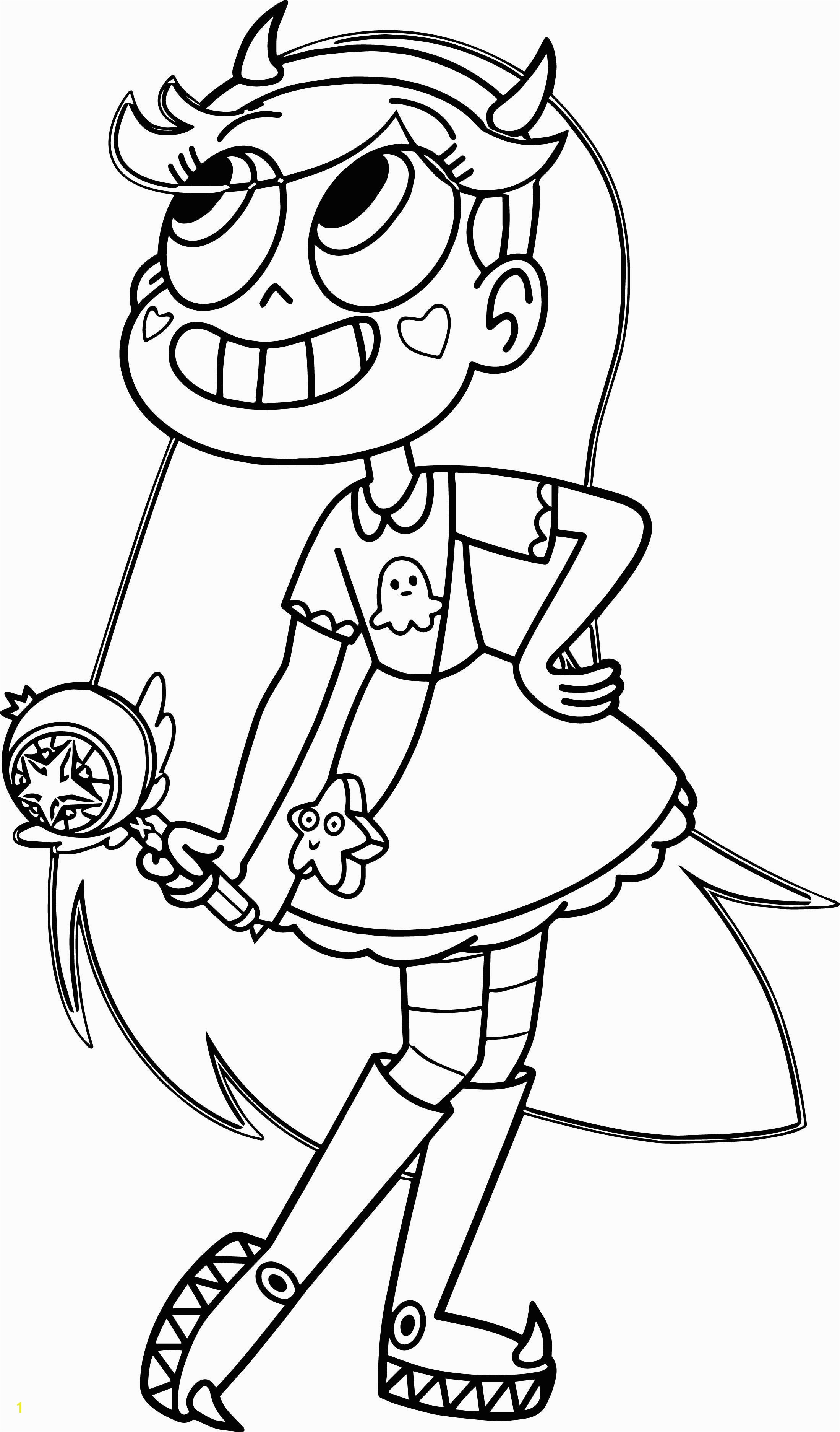 Star Vs the forces Of Evil Coloring Pages Cool Star Vs the forces Evil butterfly Coloring Page