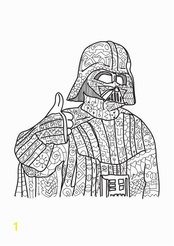 Star Wars coloring page Adult coloring by PaperBro