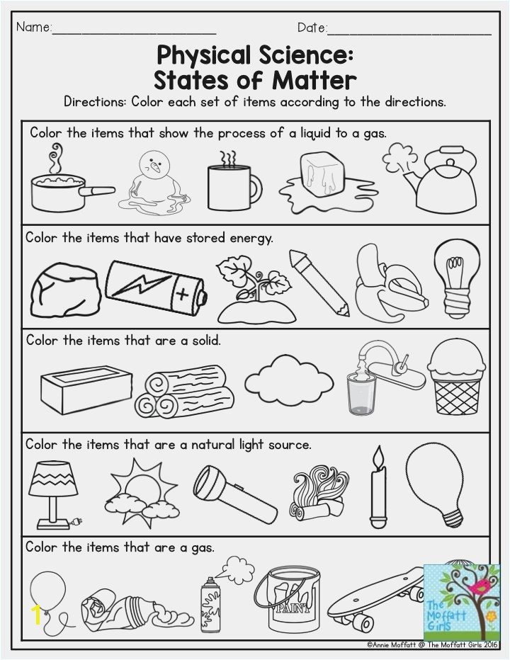 Matter Worksheets 2nd Grade Carelessme SaveEnlarge · States