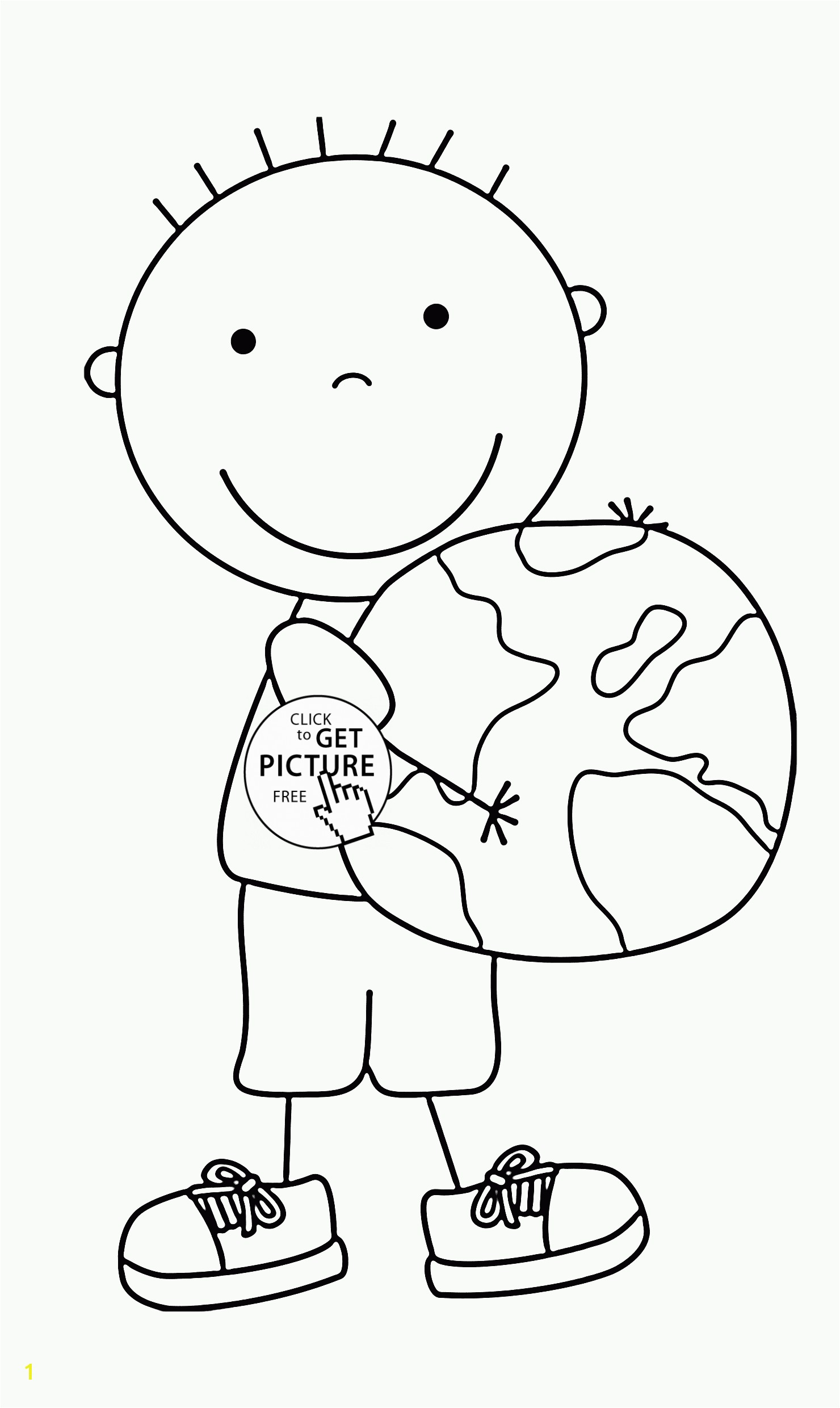 Keep the Earth Clean and Green Earth Day coloring page for kids coloring pages
