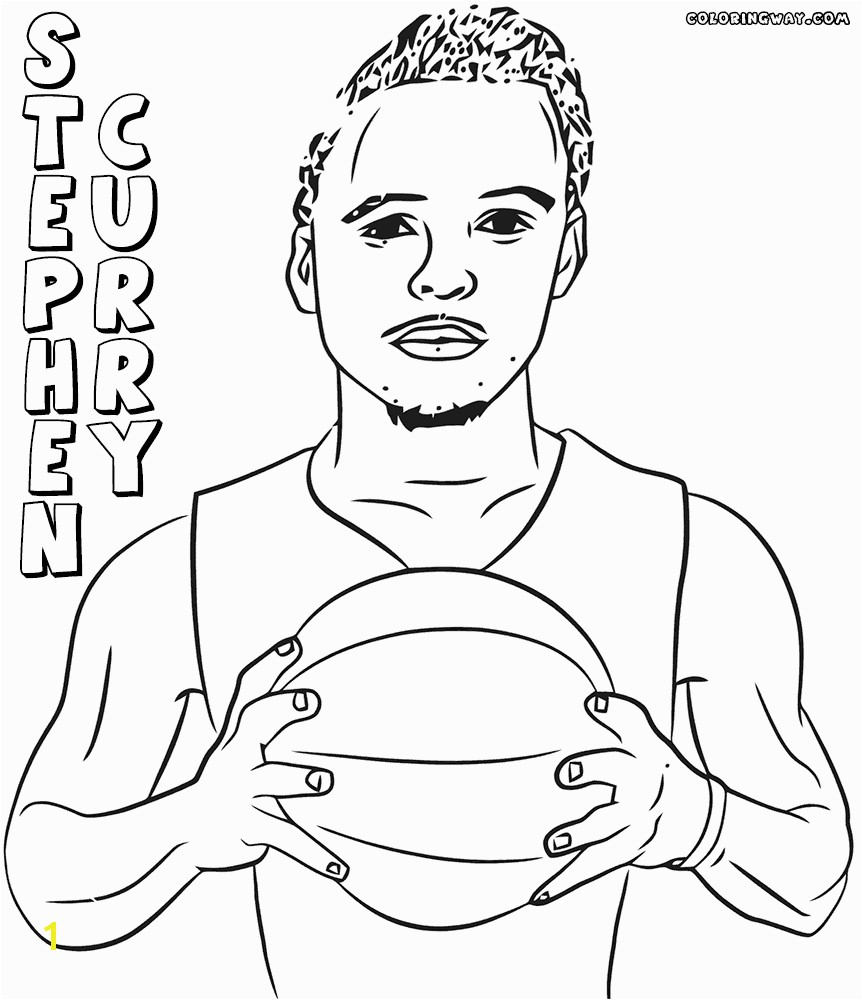 Coloring Sheet Detail Name Steph Curry Coloring Pages To Print