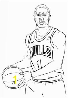 Derrick Rose Coloring page