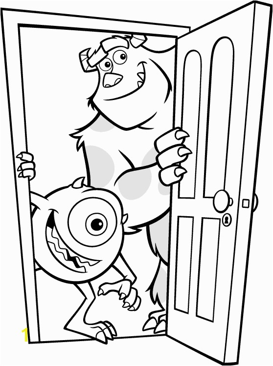Coloring Sheet Sully & Mike