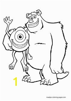 Monsters Inc coloring sheet