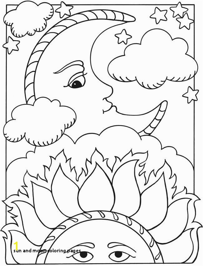 23 Sun and Moon Coloring Pages