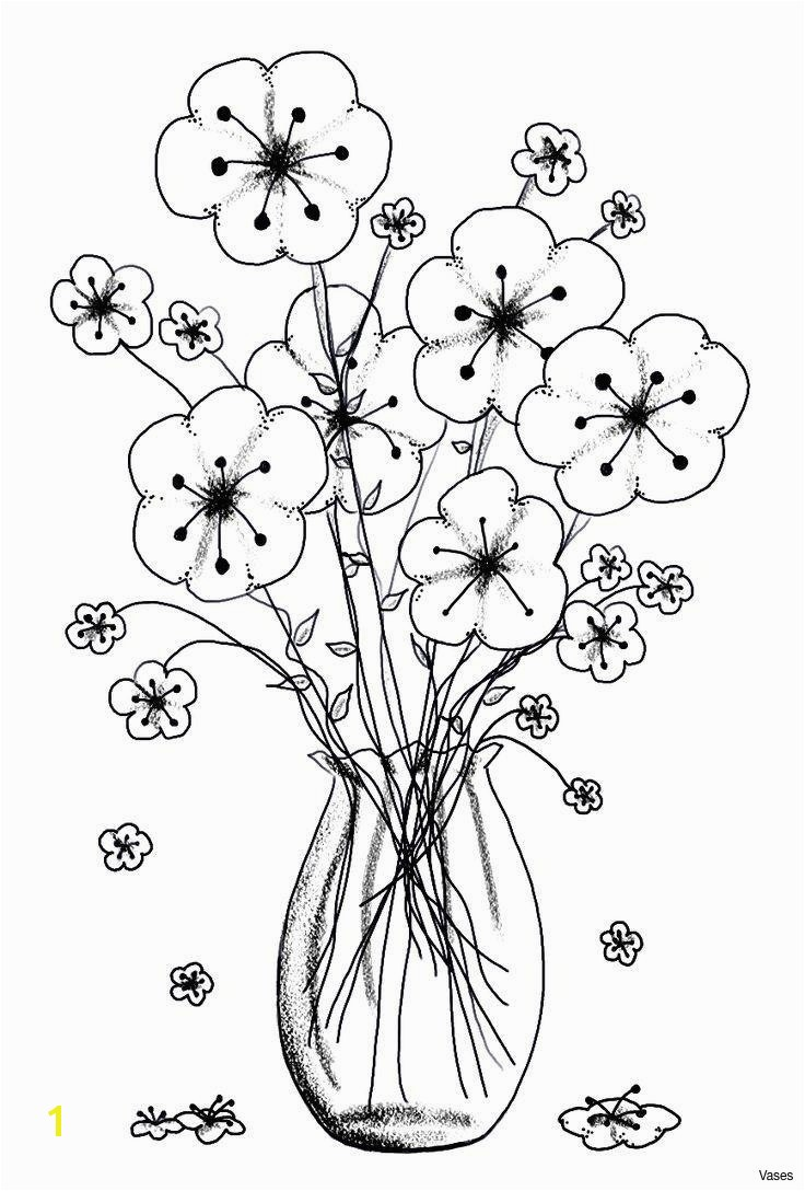 Printable Cool Vases Flower Vase Coloring Page Pages Flowers In A top I 0d