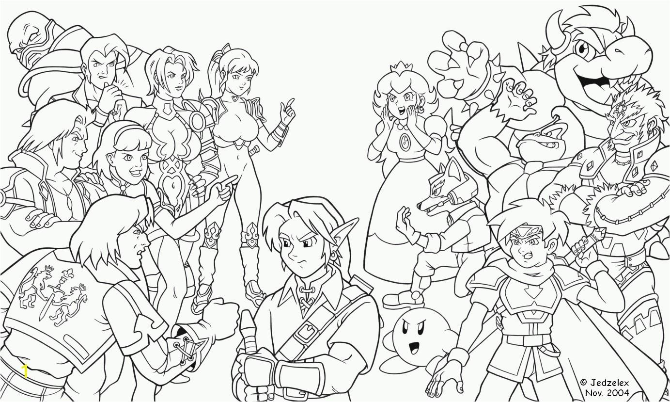 Super Mario Bros Coloring Pages Super Smash Bros Coloring Pages