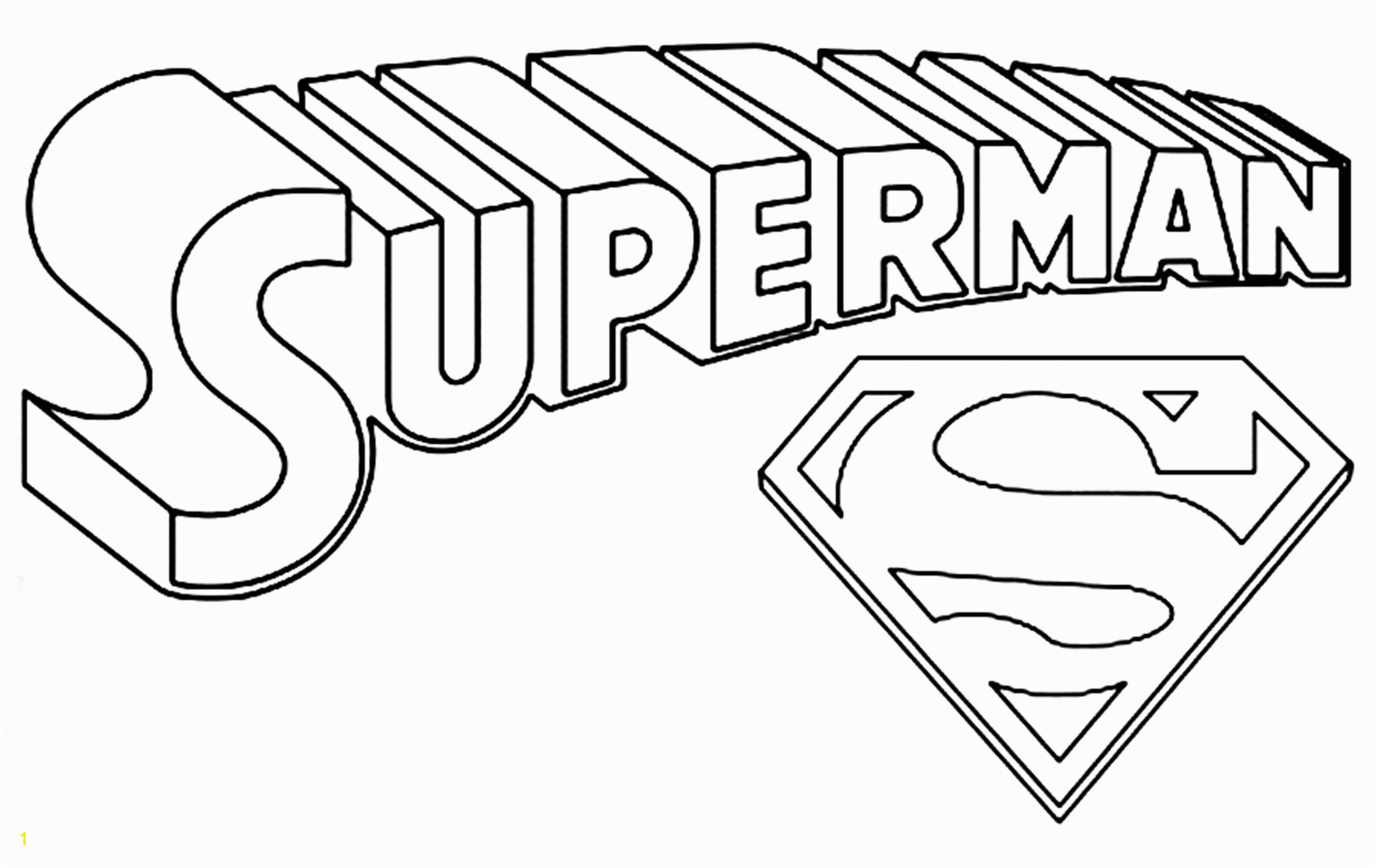 Better Superman Printables Coloring Pages Color Logo Arts And
