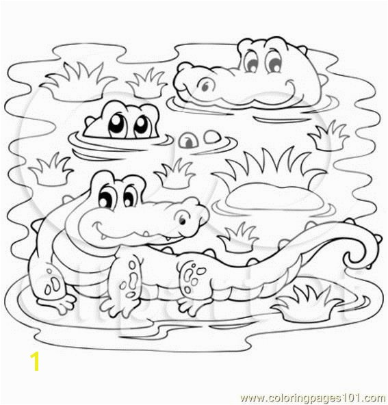 Crocodile Coloring Pages Awesome Crocodiles In A Swamp Coloring Page Free Printable Coloring Pages