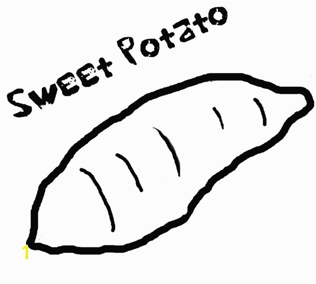 Sweet Potato Coloring Page Sweet Potato Coloring Page & Coloring Book