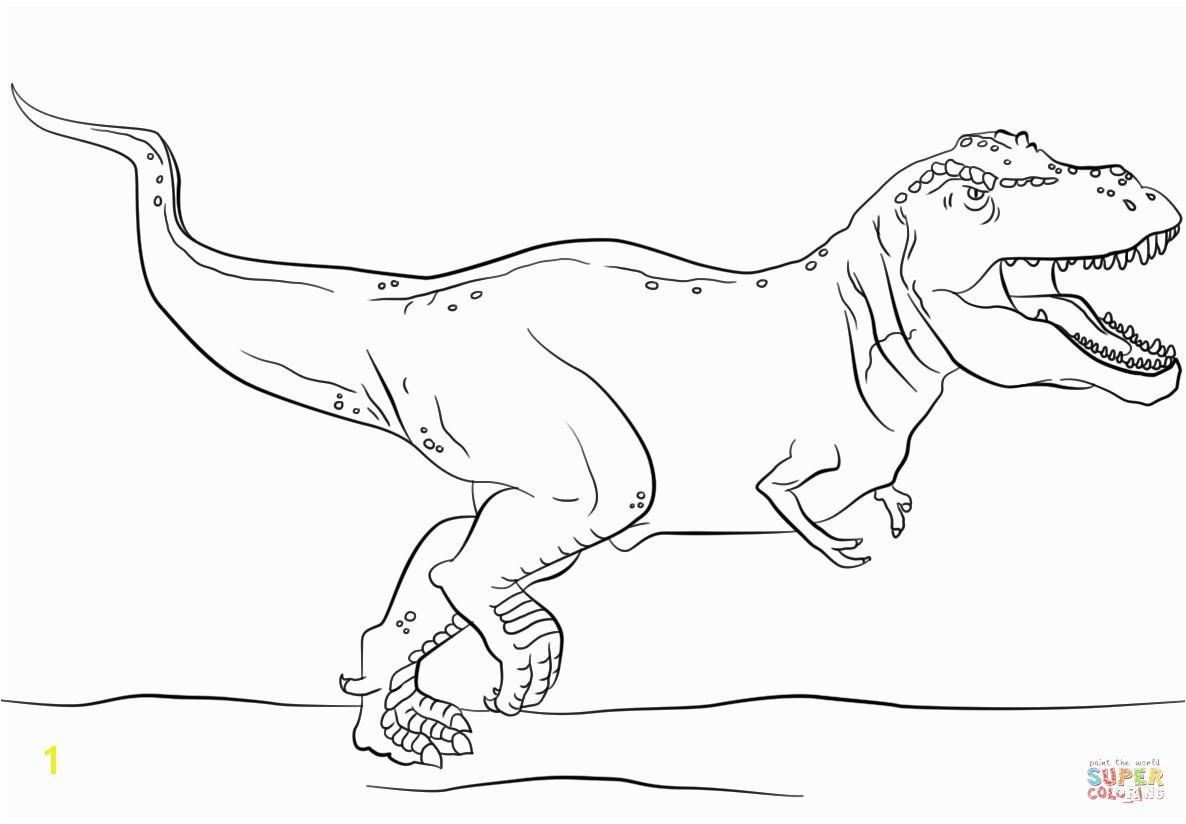 Jurassic Park T Rex Coloring Page To Tyrannosaurus Pages Within Realistic