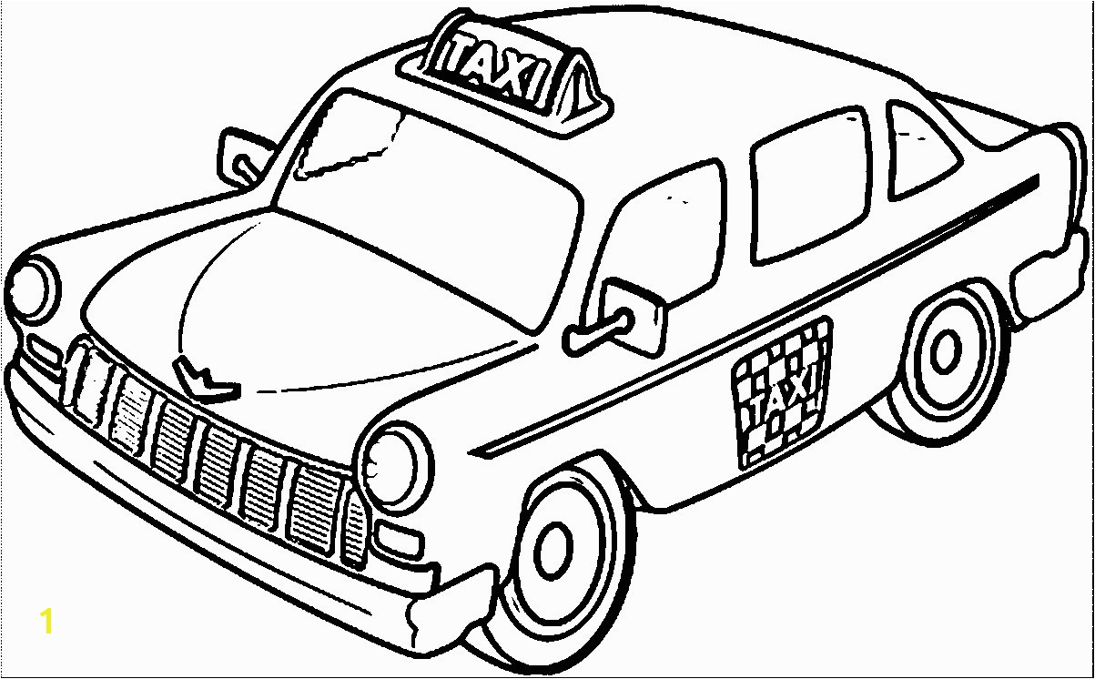 Taxi And Driver Coloring Pages Wecoloringpage Endearing Enchanting Page