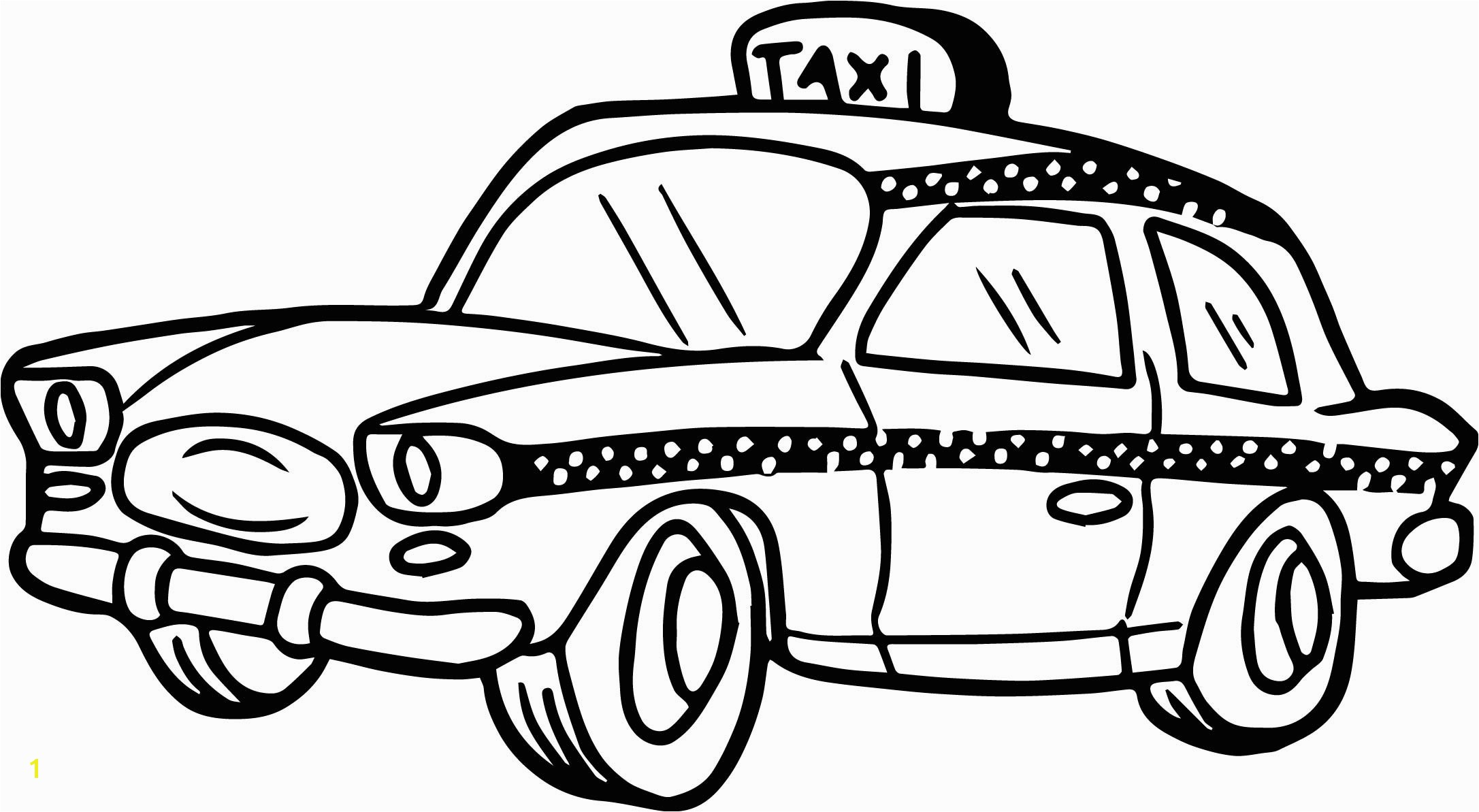 Taxi Driver Car Cartoon Coloring Page Transportation Pages For Kids Awesome Cute